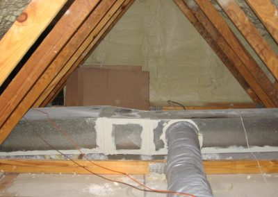 2Attic foamed and duct work sealed