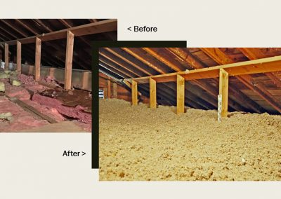 2Before and After - Attic Insulation