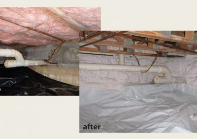 2Before and After - Conditioned Crawlspace